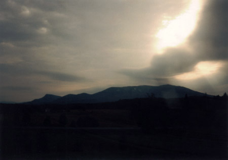 View of Massanutten Mountain from the northeast, Christmas Day 1997
