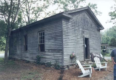 Barb's Schoolhouse, currently being restored (June, 2002), near Orkney Springs in southwestern Shenandoah County