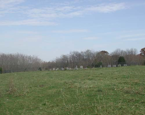 Distant view of Boehm Cemetery, October, 2003.